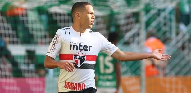 Marcos Guilherme soma três gols com a camisa do São Paulo