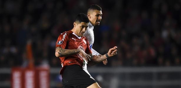 Equipe santista só marcou e não executou um chute a gol sequer contra o Independiente - Marcelo Endelli/Getty Images