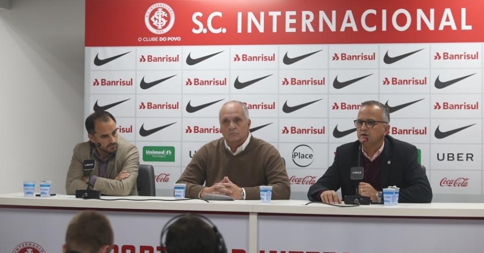 Presidente do Inter, Marcelo Medeiros concede entrevista para falar do caso Guerrero