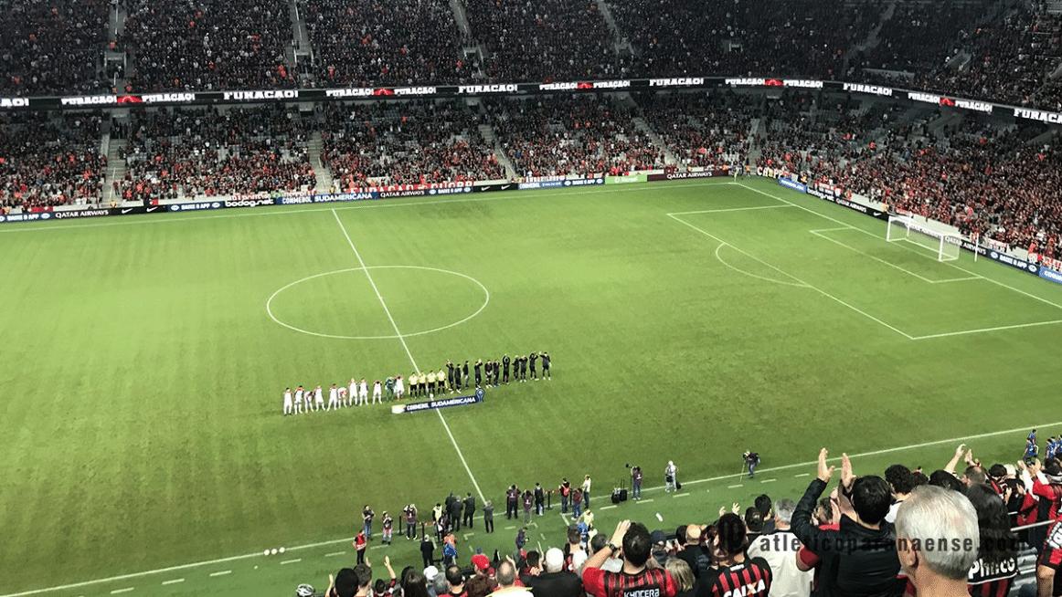 Arena da Baixada cheia para Atlético-PR x Bahia nas quartas da Sul-Americana