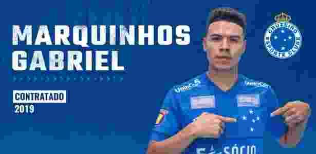 Marquinhos Gabriel é o novo reforço do Cruzeiro para 2019 - Divulgação/Cruzeiro