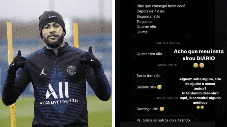 Neymar compartilhou uso inusitado de suas mensagens diretas no Instagram - Reprodução/Instagram/@neymarjr