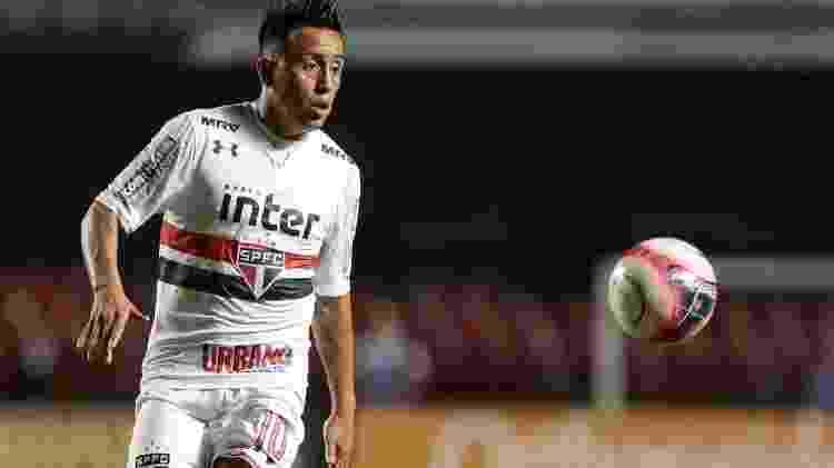 Cueva defendeu o São Paulo entre 2016 e 2018. Clube tem dívida de R$ 6 milhões - Marcello Zambrana/AGIF - Marcello Zambrana/AGIF