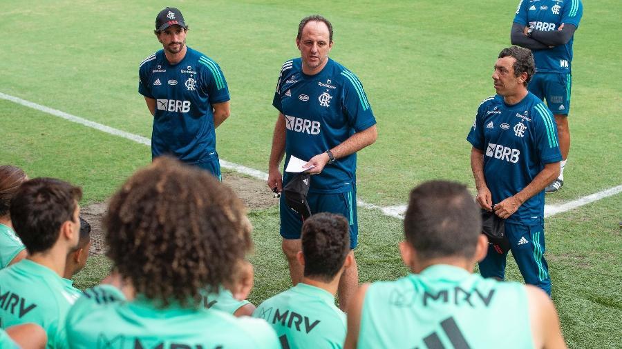Técnico Rogério Ceni comanda treino do Flamengo - Alexandre Vidal / Flamengo
