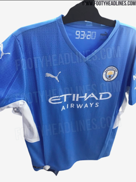 """Com """"homenagem"""" a Agüero, nova camisa do City é vazada; veja imagens - FootHeadlines"""