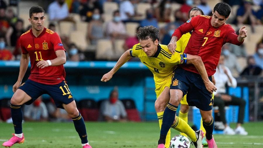 Espanha x Suécia, pela Eurocopa 2021 - AFP