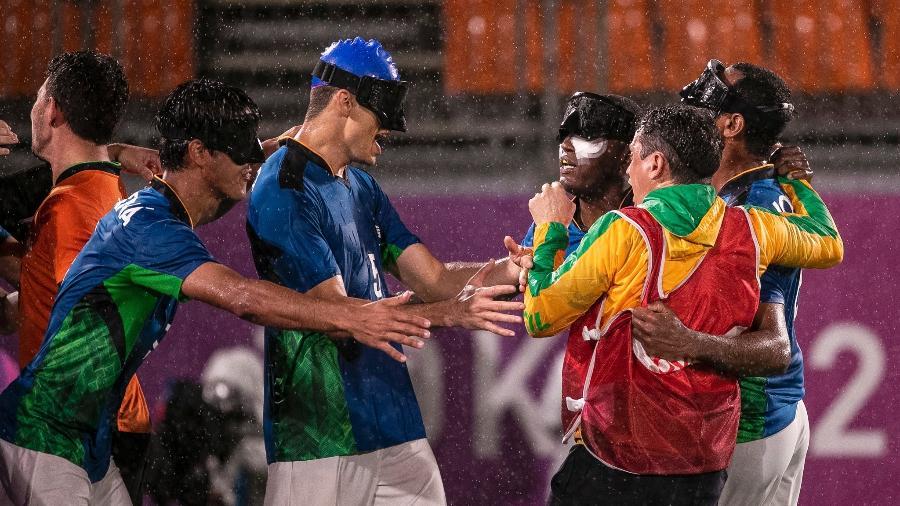 Brasil vence Marrocos por 1 a 0 na semifinal do futebol de 5 - Ale Cabral/CPB