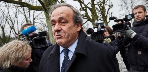 Platini chega à Fifa para depor em apelação contra 8 anos de banimento do futebol - AFP / MICHAEL BUHOLZER