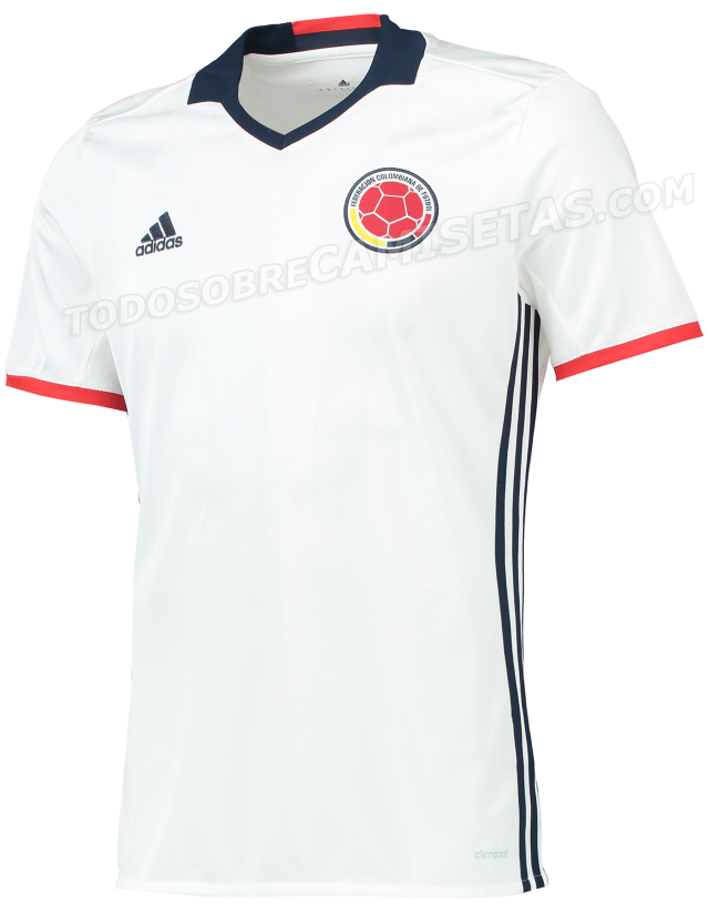 Nova camisa da Colômbia vaza na internet