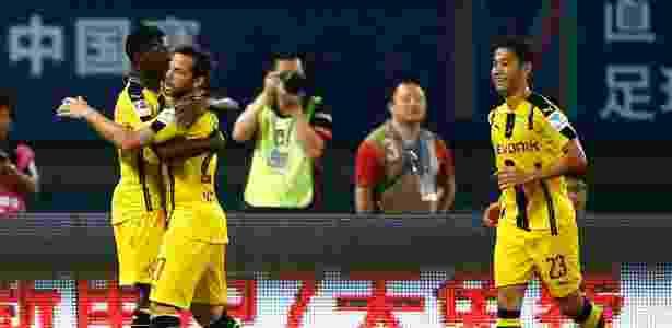Borussia Dortmund comemora gol contra o Manchester United  - Thomas Peter/Reuters - Thomas Peter/Reuters