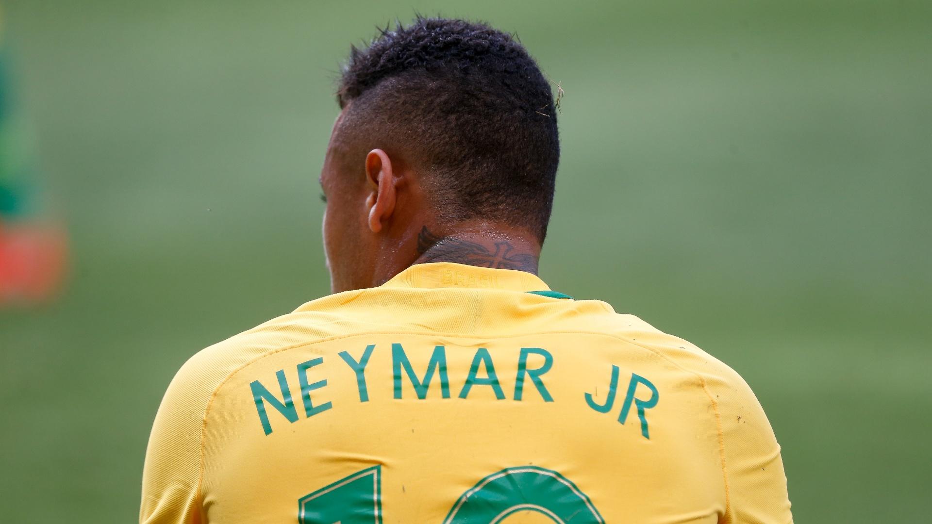 Neymar em ação pela seleção brasileira na Olimpíada