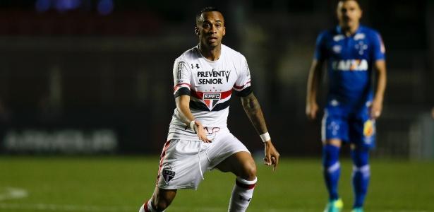 O meio-campista Wesley durante jogo do São Paulo contra o Cruzeiro