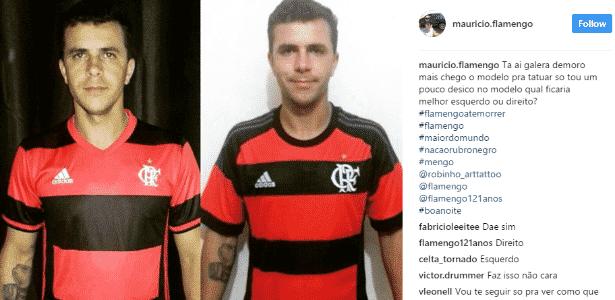 Maurício pergunta qual modelo ele deveria tatuar - Reprodução/Instagram - Reprodução/Instagram