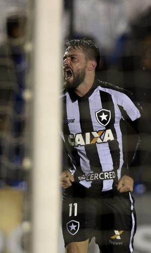 João Paulo comemora gol do Botafogo pela Libertadores contra o Nacional