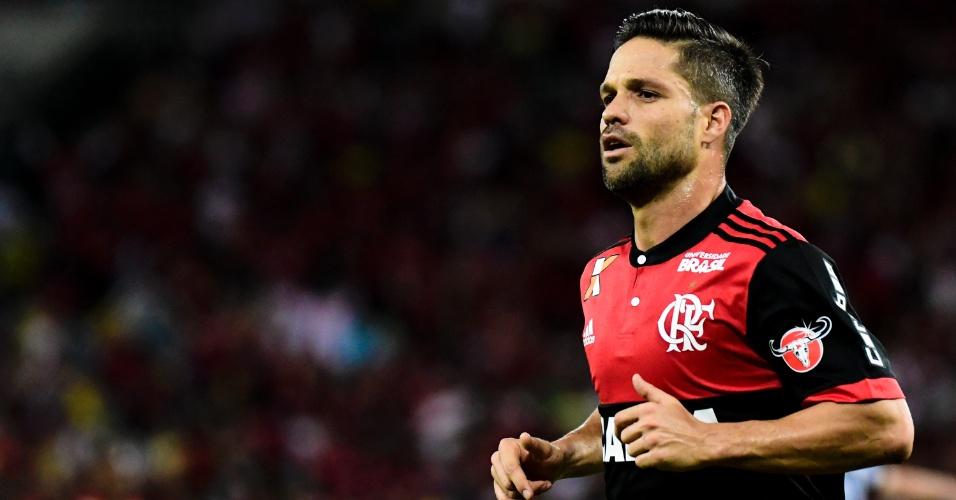 Diego, do Flamengo, em jogo contra o Botafogo pela Copa do Brasil