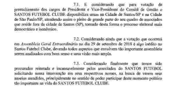 Pedido de sócios do Santos por urnas na capital paulista para votação do impeachment 2 - Reprodução - Reprodução