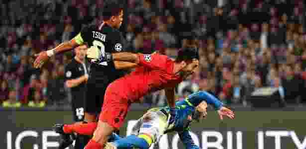 Thiago Silva contra o Napoli - Alberto PIZZOLI/AFP - Alberto PIZZOLI/AFP