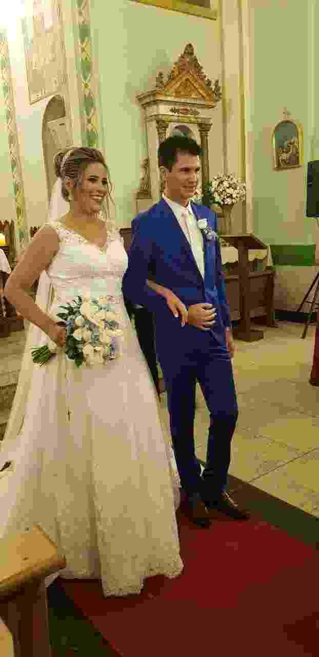 Casamento de Cris e Everthon, torcedores do Cruzeiro - arquivo pessoal