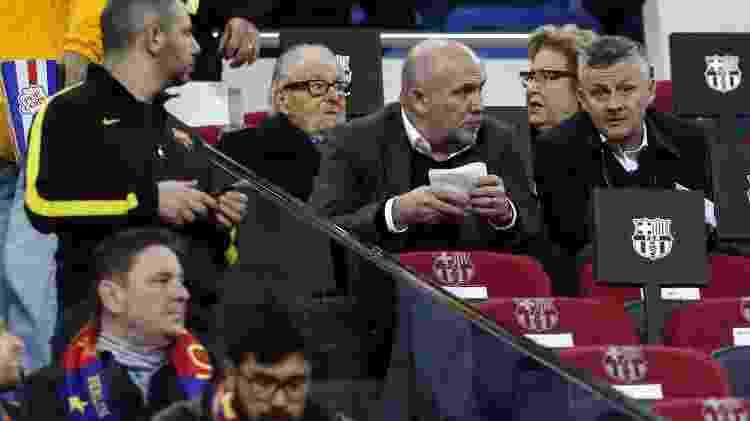Técnico do United no Camp Nou - PAU BARRENA/AFP - PAU BARRENA/AFP
