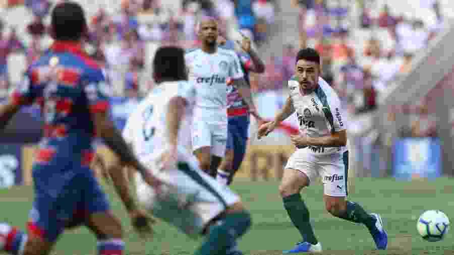 Willian fez o gol que definiu a vitória por 1 a 0 sobre o Fortaleza na rodada passada - Cesar Greco/Ag Palmeiras/Divulgação