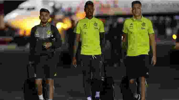 Flamengo chega a Lima - REUTERS/Guadalupe Pardo - REUTERS/Guadalupe Pardo