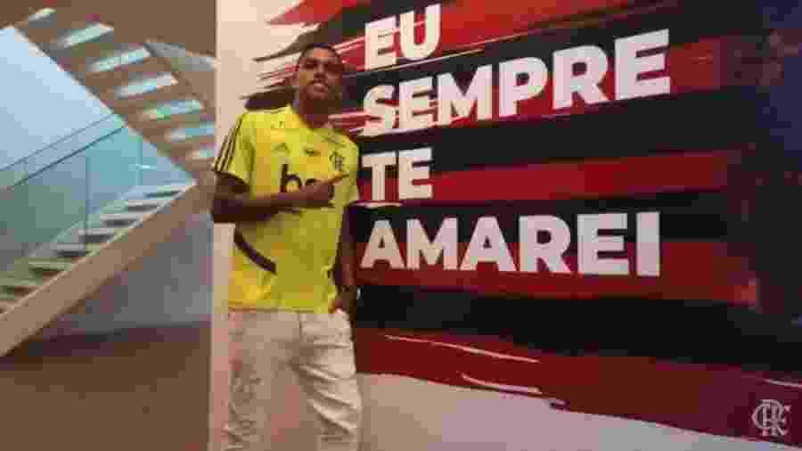 Atacante Pedro Rocha se apresenta ao Flamengo - Reprodução / Twitter