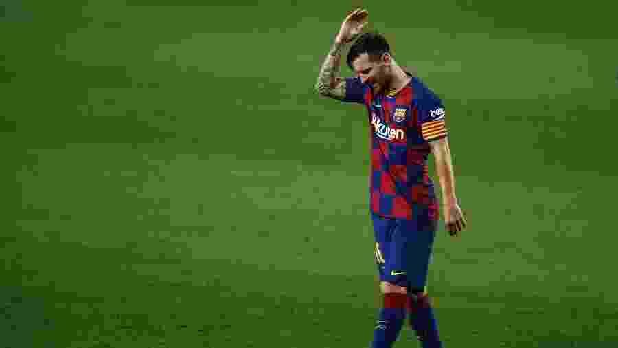 Messi durante partida contra o Osasuna pelo Campeonato Espanhol - Xavier Bonilla/NurPhoto via Getty Images