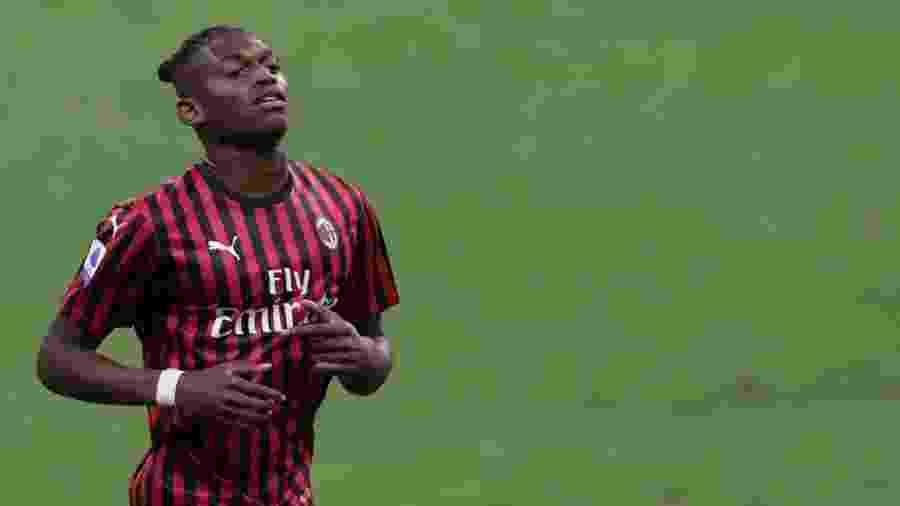 14.jul.2020 - Rafael Leão durante partida do Milan - Emilio Andreoli / Getty Images