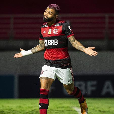 Gabigol celebra gol marcado pelo Flamengo em jogo do Brasileiro de 2020 - Alexandre Vidal/Flamengo