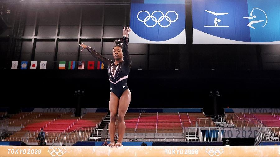 Simone Biles abandonou a disputa na final por equipes - Jamie Squire/Getty Images
