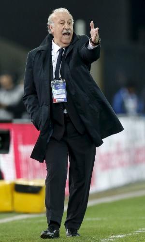 Vicente del Bosque dá instruções à seleção da Espanha