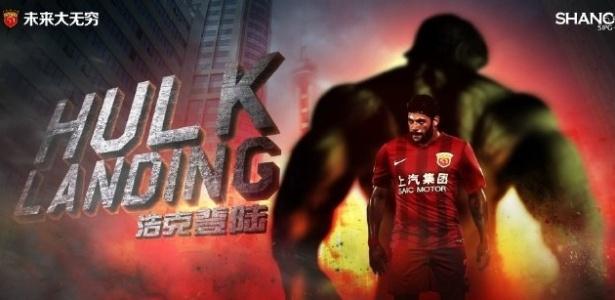 Hulk já começa a ser utilizado em campanhas de marketing pelo clube chinês