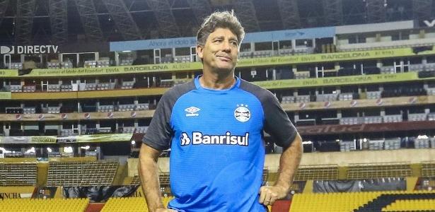 Renato Gaúcho reclamou da partida do Grêmio não se realizada em Porto Alegre