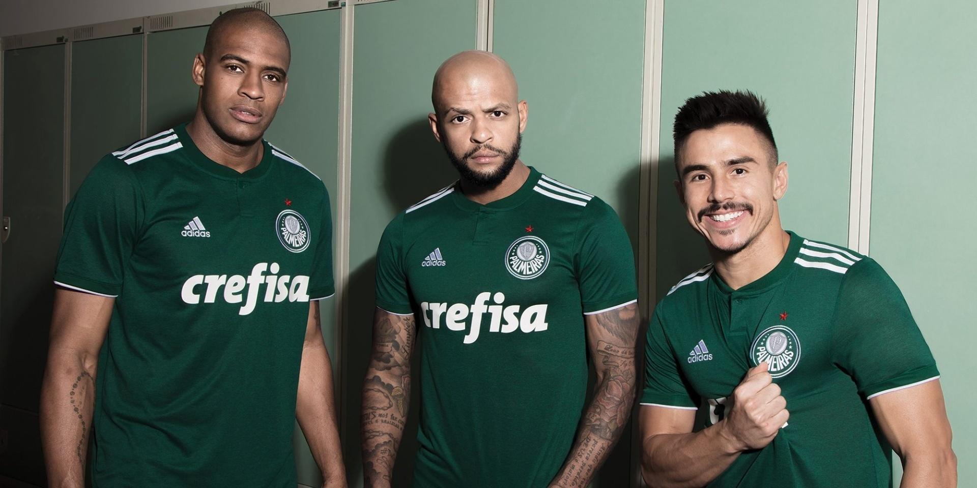 89b4f1e949 Novo uniforme do Palmeiras resgata escudo atual e volta a ser todo verde -  29 03 2018 - UOL Esporte