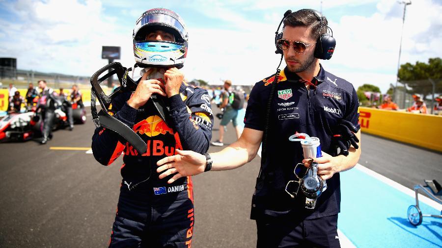 Daniel Ricciardo reclamou da estratégia da Red Bull - Mark Thompson/Getty Images