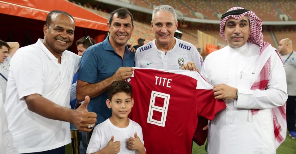 Fábio Carille visitou Tite durante treino da seleção