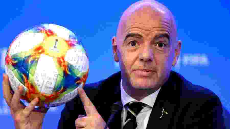 Gianni Infantino, presidente da Fifa - Rhona Wise/AFP
