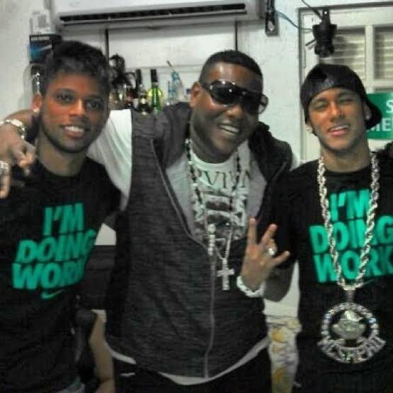 André e Neymar com MC Sapão