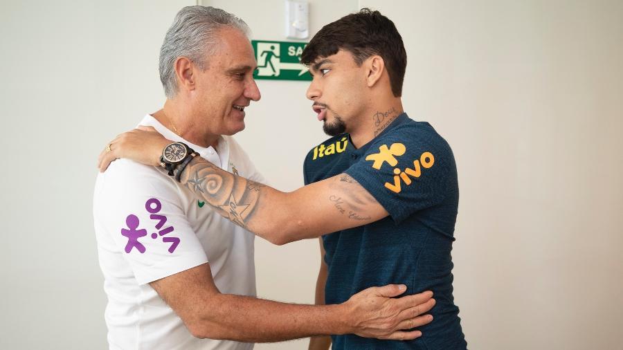 Tite recebe Lucas Paquetá na Granja Comary antes da Copa América - Lucas Figueiredo/CBF