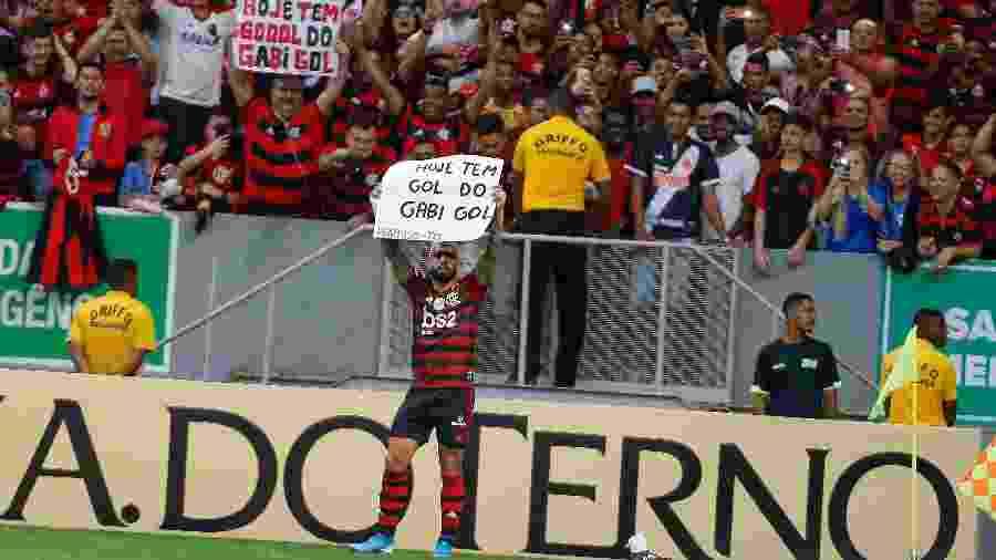 Gabigol celebra gol do Flamengo no clássico com o Vasco - Alexandre Vidal / Flamengo