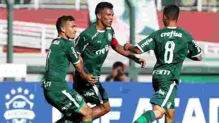 Gabriel Veron comemora gol do Palmeiras na final da Copa do Brasil sub-17 - Fabio Menotti/Palmeiras
