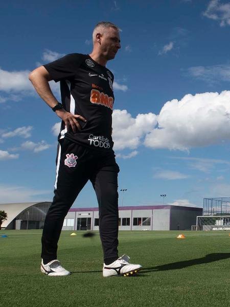 Tiago Nunes comanda primeiro treino no Corinthians - Daniel Augusto Jr/Agência Corinthians