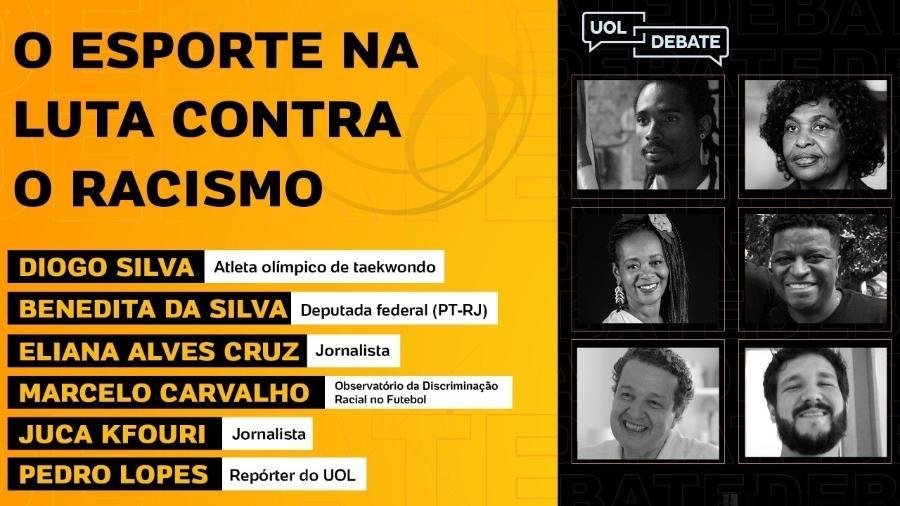 UOL Debate: o racismo no esporte brasileiro - Reprodução UOL
