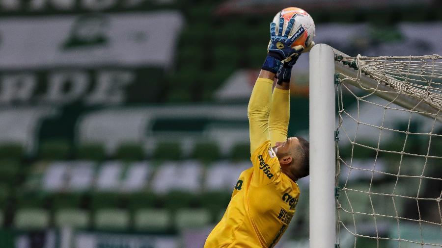 Weverton em ação pelo Palmeiras contra o Tigre, pela Libertadores - Mauro Horita/Conmebol