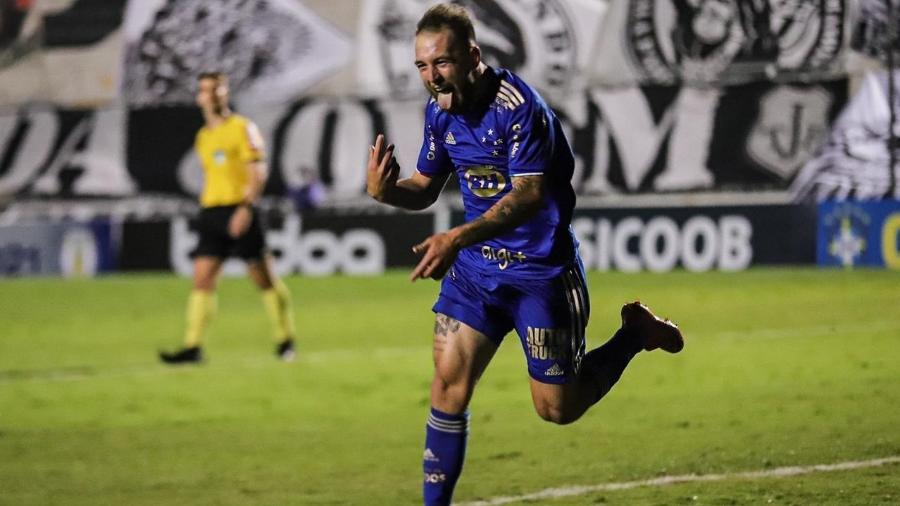 Gol de Bruno José garantiu a primeira vitória do Cruzeiro na Série B do Brasileirão - Igor Sales/Cruzeiro