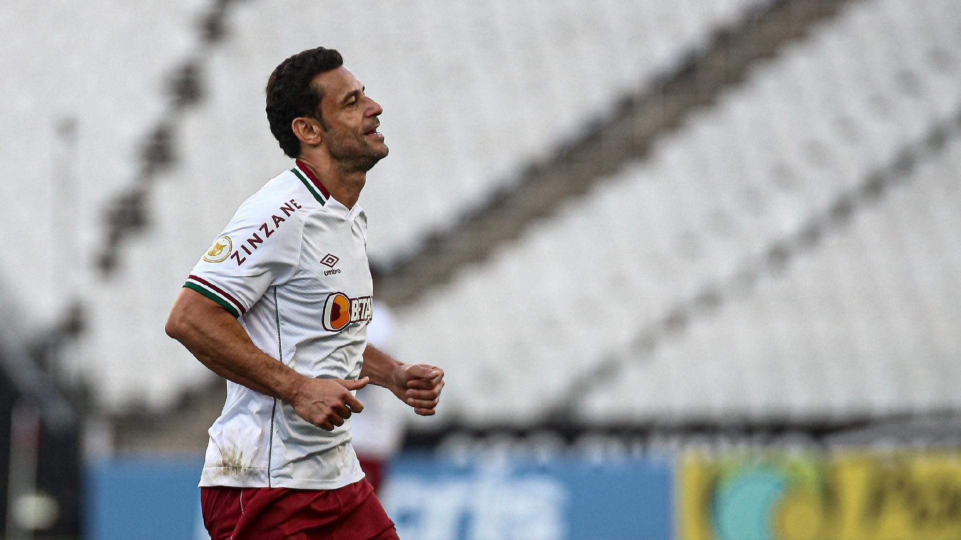 Fred, atacante do Fluminense, durante o jogo contra o Flamengo