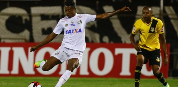 Bruno Henrique marcou três gols em sua primeira oportunidade como titular