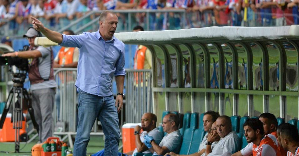 Mano Menezes se irrita no duelo do Cruzeiro contra o Bahia