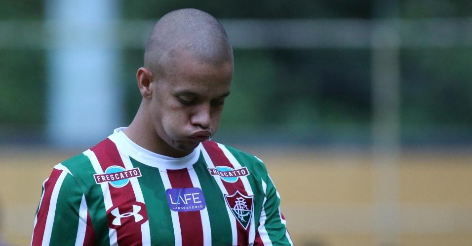 Marcos Junior, do Fluminense, lamenta chance perdida contra o Macaé