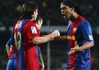 """Messi: """"Nunca vou esquecer meu 1º gol, que teve o passe do Ronaldinho"""" - Denis Doyle/Getty Images"""